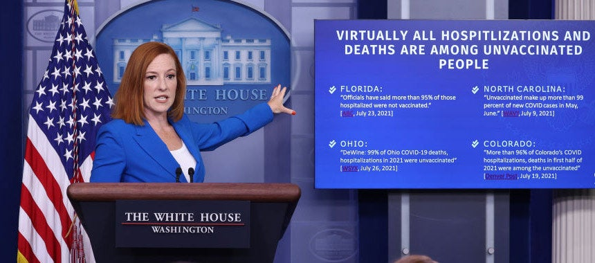 Psaki Points Finger at the Unvaccinated